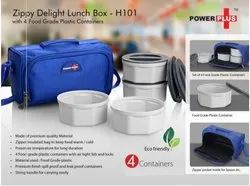 Zippy Delight Insulated Zipper Lunch Box with 4 Plastic Containers