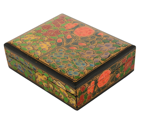 Paper Mache Decorative Hand Painted Flat Box At Rs 40 Piece Inspiration Decorative Paper Mache Boxes