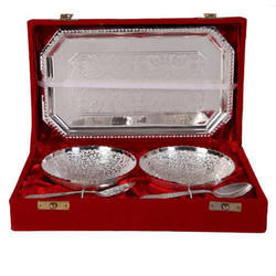 German Silver Plated Bowls Set