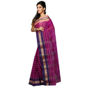 Pink Border Designed Ladies Trendy Handloom Cotton Saree, Without Blouse Piece
