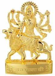 Kesar Zems Golden Plated Goddess Durga Idol Statue for Temple and Home Decor