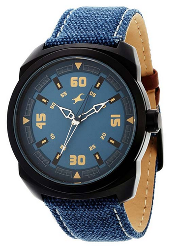 fossil strap blue men watches s watch leather grant automatic navy