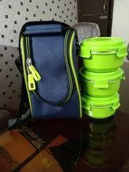 Pnp Lock n Lock Microwave Safe Lunch Box 3pcs, Capacity: 375 mL Eaach