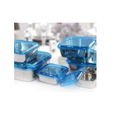 Stainless Steel Square Storage Container With San Lid