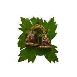 Wooden Paper Mache Bell Shape 4 Hanging Key