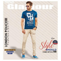 Mens Cotton Half Sleeve Casual Wear Printed T Shirt