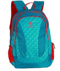 Red Blue Pencil Pouch Backpack