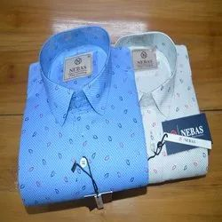 Satin Mens Fancy Cotton Printed Shirts