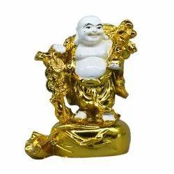 Premium Quality Resin 6.5 x 9 Fengshui Laughing Buddha Showpiece