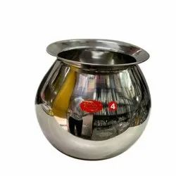 Stainless Steel Pain Lota, Size: 4
