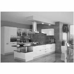 HETTICH Wood, HDF Designer Modular Kitchen, Drawer Basket, Warranty: 5-10 Years