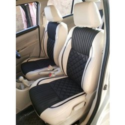 Black And Cream Front Leather Designer Car Seat Cover