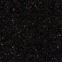 Rajasthan Black Galaxy Granite Slab, For Flooring, Thickness: 15-20 mm