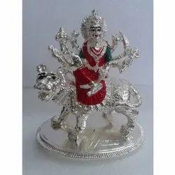 Silver Coating Durga Mata Statue