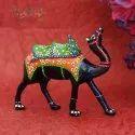 Paper Mache White Metal Craft Showpiece Camel, Packaging Type: Box