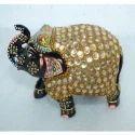 Meenakari Decorative Hand Carved Wood Elephant