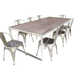 Silver Dining Set, For Home,Hotel & Restaurant, Seating Capacity: 8 Seater