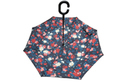 Reverse Folding Hand Hold Polyester water proof light weight Rain Umbrella-Multi Colour Flowers2