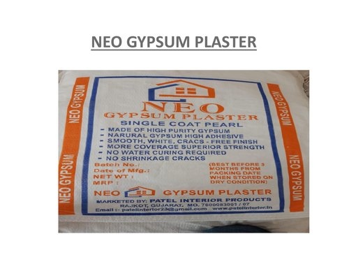 NEO Gypsum Plaster, Grade: Standard, Packaging Size: 15 And 25 Kgs Bag