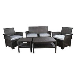 Universal Furniture Black 4 Seater Sofa Set with Table
