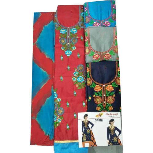 5006b66755 Glace Cotton Casual Wear Ladies Unstitched Suit, Rs 485 /piece | ID ...
