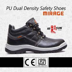 All Sizes Black Mirage Safety Shoes For Metal Industry