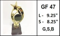 Man Star Plastic Gold Plated Trophy
