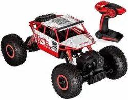 Red Plastic Rock Crawler Remote Control Monster Car