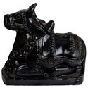 Black Marble Nandi Sculpture