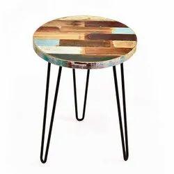 Modern Reclaimed Wood Side Table