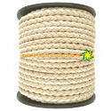 Ivory Nappa Braided Leather Cord
