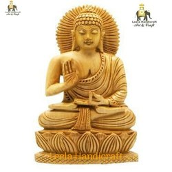 Wooden Blessing Buddha Statue