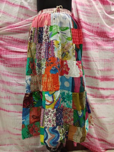Patchwork Ladies Multi Color Skirt