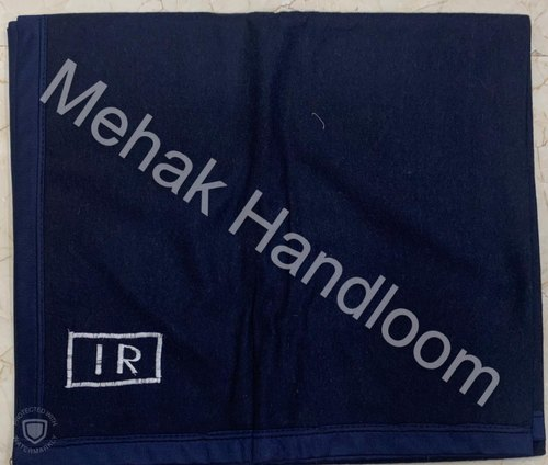 Indian Railway New Pattern Blanket - Navy Blue