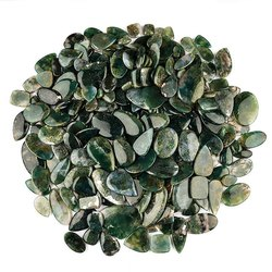 Natural Moss Agate Cabochon in Assortment Gemstone