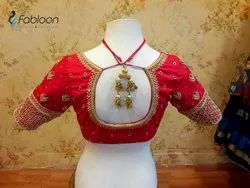 Red Silk Bridal Blouse