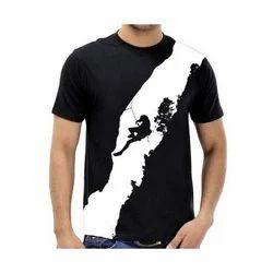 Black, White Medium And Large Men's Fancy T Shirt