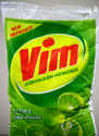 Vim Dishwash Powder With Extra Lime Power Cleaner