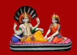 MLVSS-01 Marble Laxmi Vishnu Statue on Sheshnag