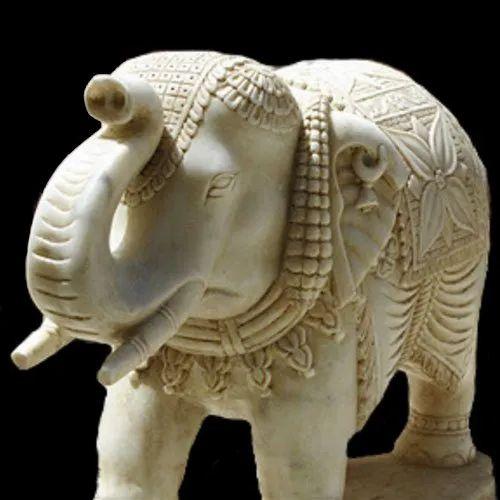 Marble Elephant Artifact