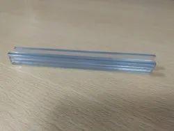 BLACK & WHITE Clear PVC Glass Profile, Size: Hdh