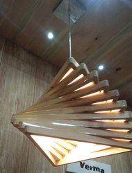 Wooden Hanging Light
