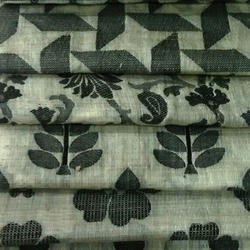 Black Horse Chanderi Fabric