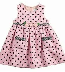 Dotted frock with pockets