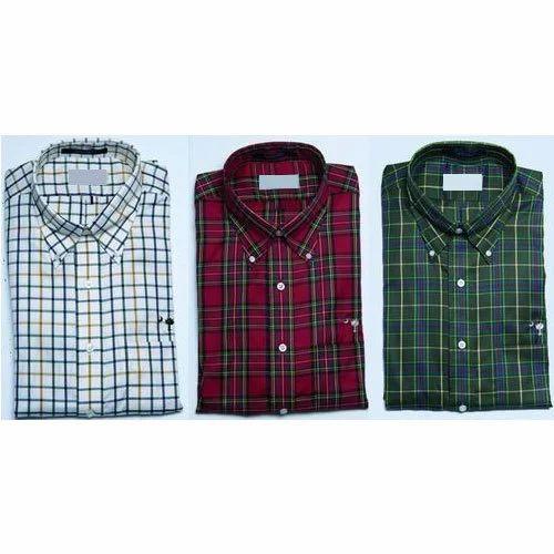 f0fda5b39 Green And Maroon Mens Readymade Checked Shirt, Rs 310 /piece | ID ...
