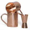 Straight Copper 16 Oz Set Of 2 Pc Free Shot Glass