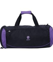 Black and Purple Duffle Bags