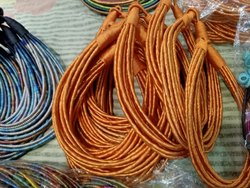 Silk Orange Multi Layered Necklace