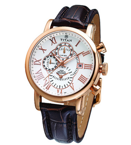 3308f6026 Brown Titan Mens Watch In Leather Strap 9234WL03E, Rs 9495 /piece ...