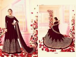Women Semi-Stitched Heavy Georgette & Santoon Salwar Suit
